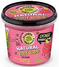 Духи, Парфюмерия, косметика Скраб для тела - Planeta Organica Natural Body Scrub Lychee & Bubble Gum