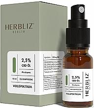 "Духи, Парфюмерия, косметика Масляный спрей для рта ""Оливка"" 2,5% - Herbliz CBD Olive Fresh Oil Mouth Spray 2,5%"