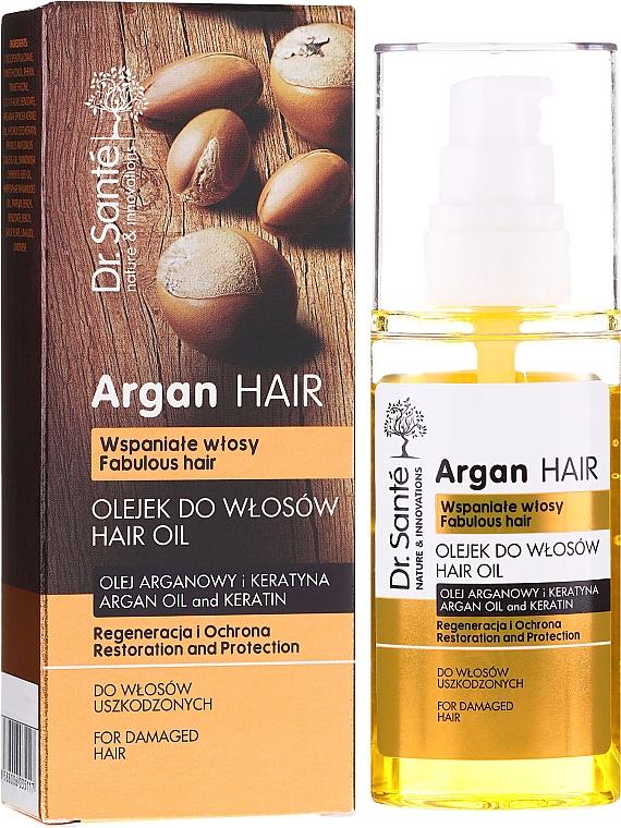 """Масло для волос """"Восстановление и Защита"""" с маслом арганы и кератином - Dr. Sante Argan Hair — фото N1"""
