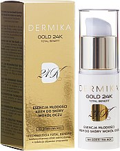 Духи, Парфюмерия, косметика Крем для кожи вокруг глаз - Dermika Gold 24 Eye Cream