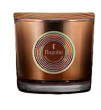 "Духи, Парфюмерия, косметика Ароматическая свеча в стакане ""Сандаловое дерево"" - Flagolie Fragranced Candle Sandalwood"