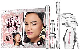 Духи, Парфюмерия, косметика Набор - Benefit Soft&Natural Brow (brow/pencil/0.34g + brow/pencil/2.8g + brow/gel/3.5ml) (02)