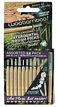 Духи, Парфюмерия, косметика Набор мини-щеток, 12 шт. - Woobamboo Toothbrush Interdental Brush Picks Assorted