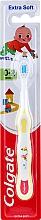 Духи, Парфюмерия, косметика Детская зубная щетка мягкая, 0-2 лет, бело-желтая - Colgate Smiles Toothbrush