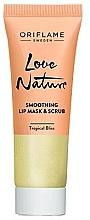 Духи, Парфюмерия, косметика Сахарная маска-скраб для губ 2 в 1 с мятой и лаймом - Oriflame Love Nature Smoothing Lip Mask & Scrub