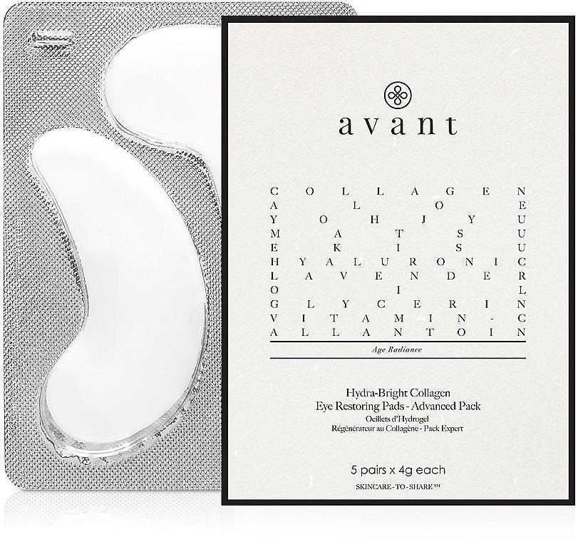 Коллагеновые патчи - Avant Advanced Pack - Hydra-Bright Collagen Eye Restoring Pads — фото N1