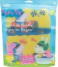 "Духи, Парфюмерия, косметика Набор мочалок ""Свинка Пеппа"" 3шт, гонки - Suavipiel Peppa Pig Bath Sponge"