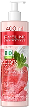 Духи, Парфюмерия, косметика Увлажняюще-разглаживающий крем-йогурт для тела - Eveline Cosmetics 99% Natural Strawberry
