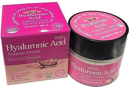 Ампульный крем для лица с гиалуроновой кислотой - Ekel Hyaluronic Acid Ampule Cream — фото N1