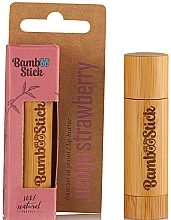 Духи, Парфюмерия, косметика Масло для губ с ароматом клубники - Bamboostick Strawberry Bamboo Natural Care Lip Butter